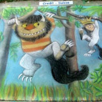 """Chalk Fest"", Sponsored by Credit Suisse. Artwork based on Where the Wild Things Are by Maurice Sendak."