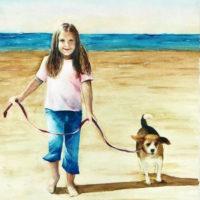 """""""Riley & Sarah,"""" Watercolor on Paper"""