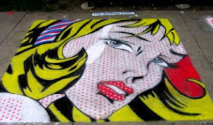 chalk+lichtenstein