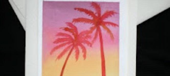 palm+sunrise+card