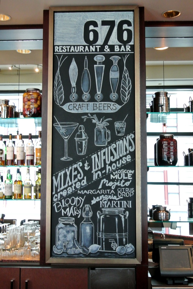 676 Restaurant and Bar: Farm-to-Table Chalkboards