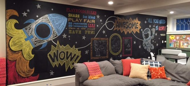 Custom Chalk Mural for 2 to 5 Designs