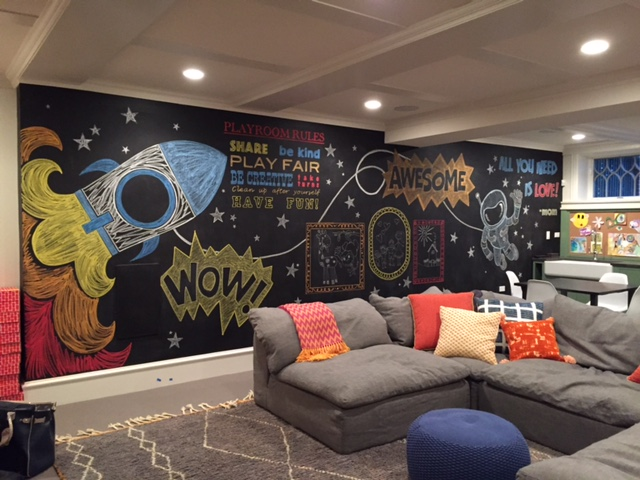 Custom Chalk Mural for 2 to 5 Designs