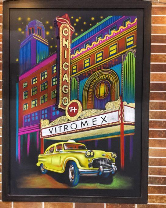 Custom Chicago Theatre Chalkboard Mural for Vitromex