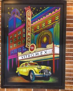 Custom Chicago Theatre Chalkboard Mural for Vitromex