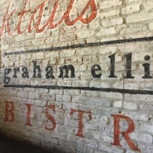Details of Custom Hand-Painted Ghost Mural for Graham Elliot Bistro
