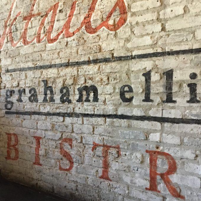 Details of Custom Hand-Painted Ghost Mural for Graham Elliot Bistro