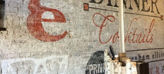 Custom Hand=Painted Ghost Mural for Graham Elliot Bistro