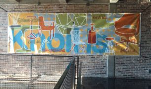 Custom Hand-Painted Mural for Knoll Furniture