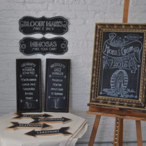 Michele and Gillian Wedding Chalkboards