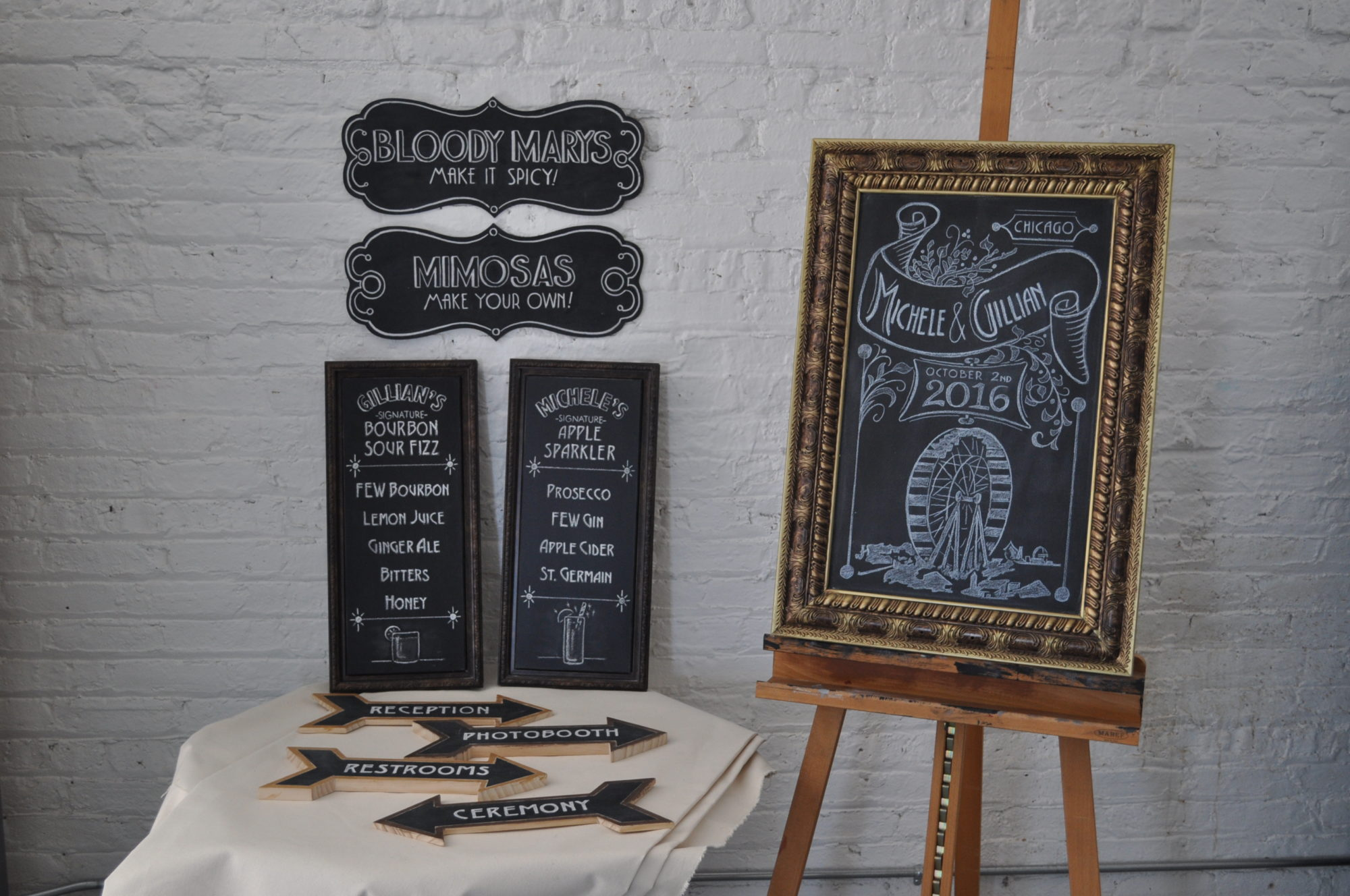 Michele and Gillian Wedding Chalkboards