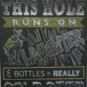 Rabbit Hole Custom Chalkboard