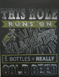 Rabbit Hole Custom Chalkboard