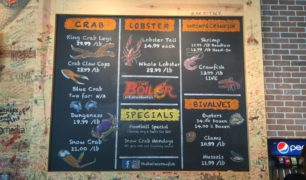 The Boiler Custom Chalkboard Menu