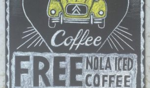 French Truck Coffee Chalkboard